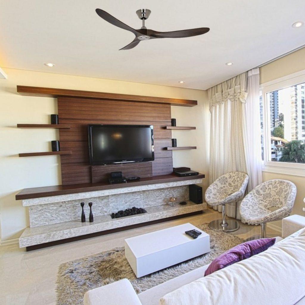 ventilateur de plafond design en bois