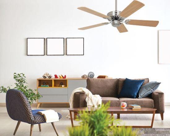 ventilateur de plafond casafan en bois