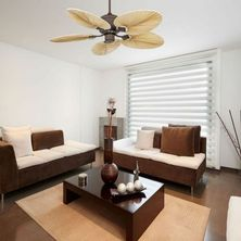 ventilateur de plafond avec pâles en bois naturel