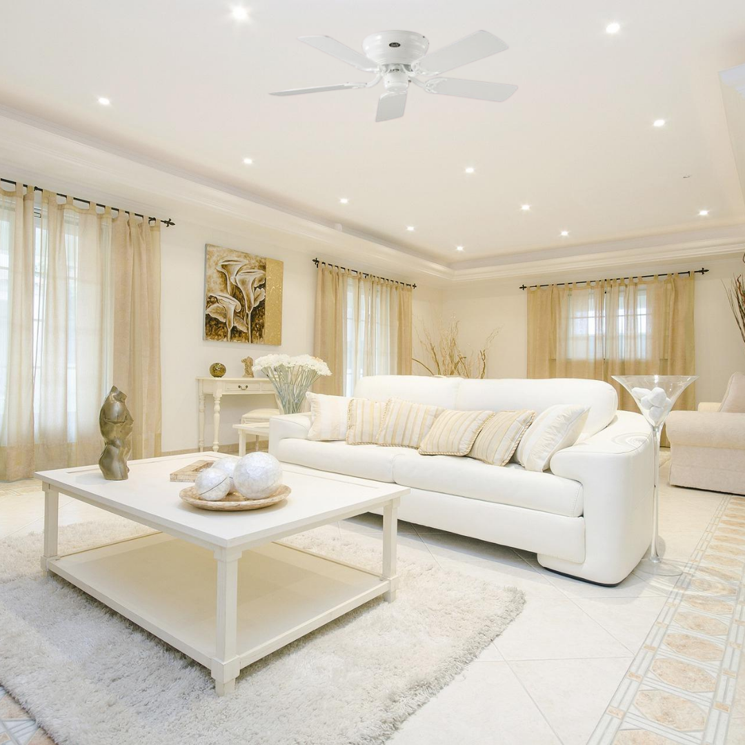 ventilateur plafond casafan classic flat blanc