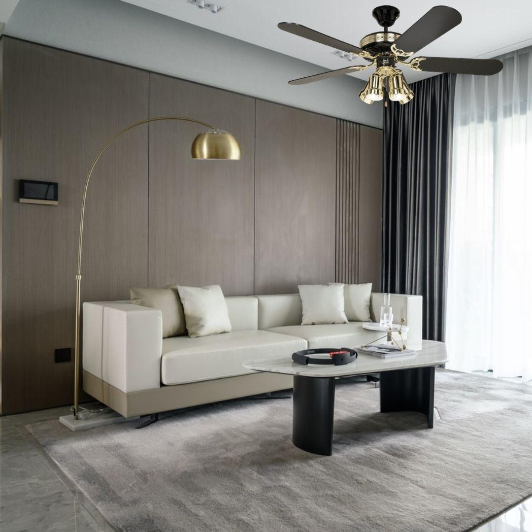 ventilateur plafond black magic casafan