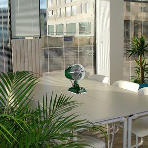 ventilateur retrojet vert anglais casafan table