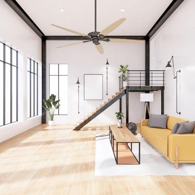 Ventilateur plafond avec tige d'extension Royal Classic